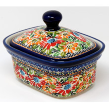 Polish Pottery Butter Tub Boleslawiec