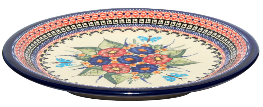 Polish Pottery Dinner Plate, Unikat Signature Design 149 Art