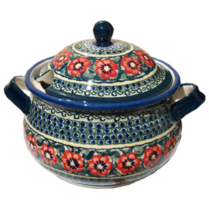Polish Pottery Soup Tureen, Unikat Signature 134 Art
