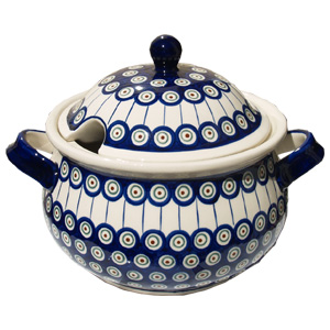 Polish Pottery Soup Tureen, Classic Design 8