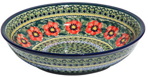 Polish Pottery Bowl 10 Inch, Unikat Signature Design 134 Art