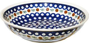 Polish Pottery Bowl 10 Inch, Classic Design 41