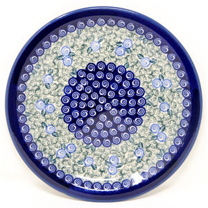 Plate 10.75 Inch, Polish Pottery from Zaklady