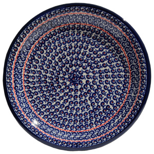 Polish Pottery Dinner Plate, Classic Design 1126a