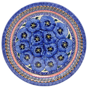 Polish Pottery Dinner Plate, Unikat Signature Design 148 Art