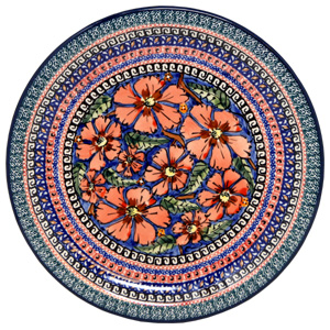 Polish Pottery Dinner Plate, Unikat Signature Design 150 Art