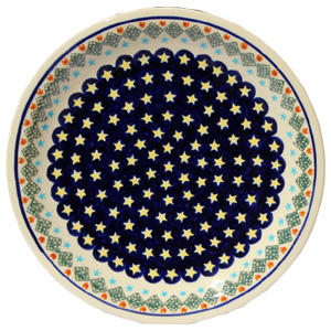 Polish Pottery Dinner Plate, CLassic Design 198