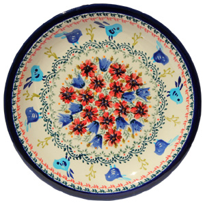 Polish Pottery Dinner Plate, Unikat Signature Design 214 Art