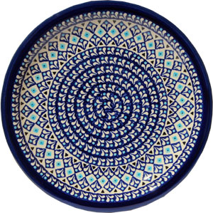 Polish Pottery Dinner Plate, Classic Design 217a