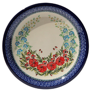 Polish Pottery Dinner Plate, Unikat Signature Design 237 Art