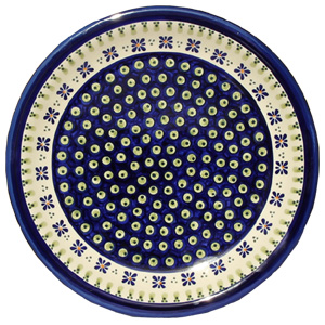 Polish Pottery Dinner Plate, Classic Design 296a
