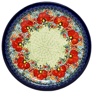 Polish Pottery Dinner Plate, Unikat Signature Design 296 Art