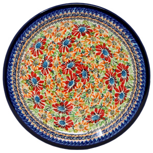Polish Pottery Dinner Plate, Unikat Signature Design 312 Art