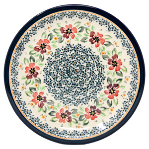 Polish Pottery Dinner Plate, Unikat Design DU116