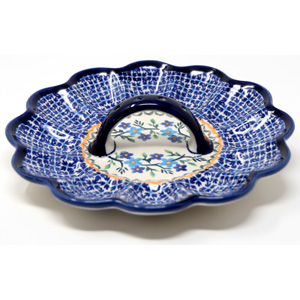 Deviled Egg Plate Polish Pottery from Zaklady Boleslawiec