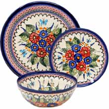 Polish Pottery Place Setting