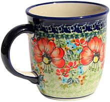 Polish Pottery Mug 12 oz.