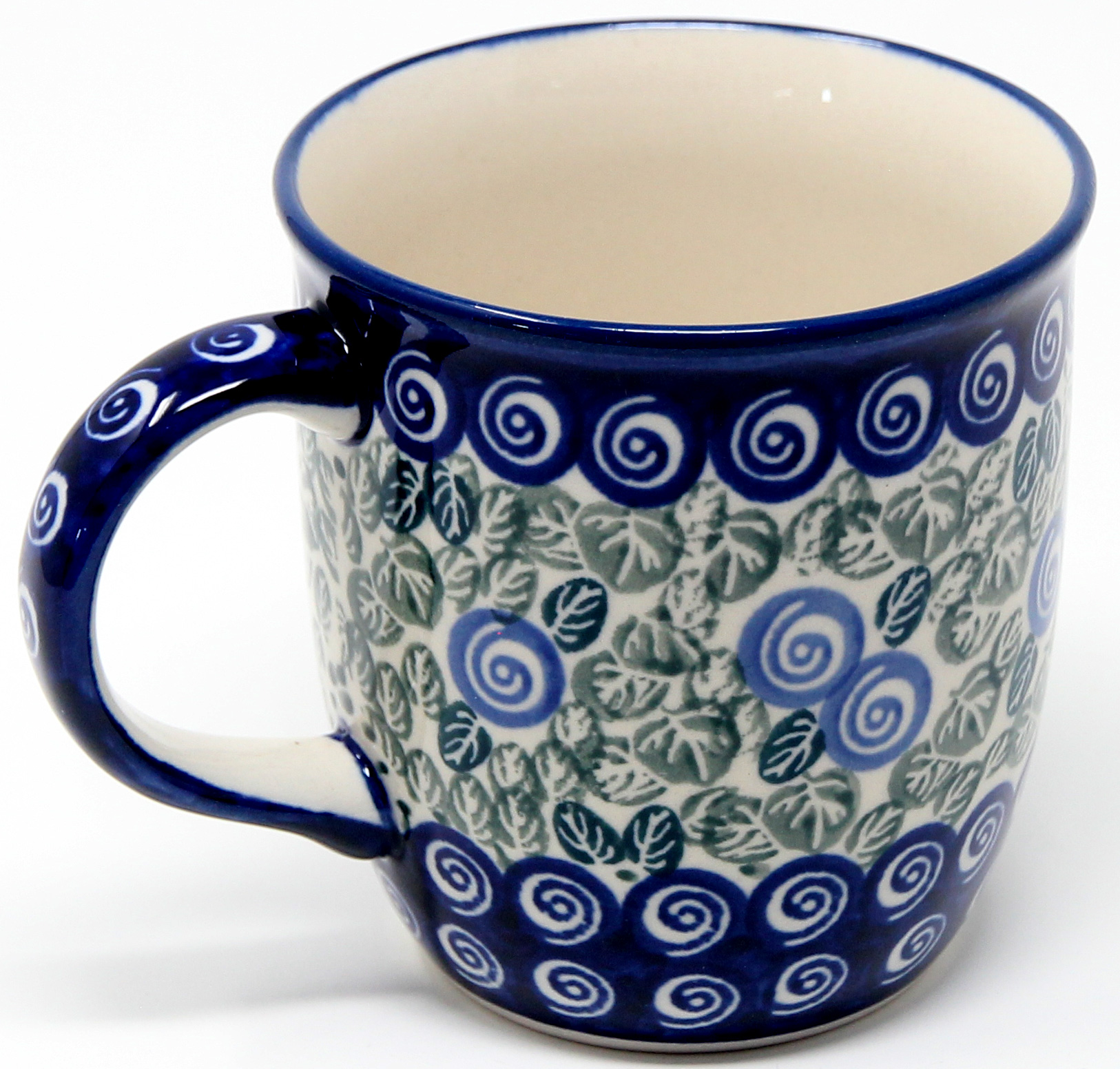Mug 12 Oz Polish Pottery From Zaklady Boleslawiec 1073a Classic Pattern 12 Ounce Mugs Polish Pottery Mugs Polish Pottery Market
