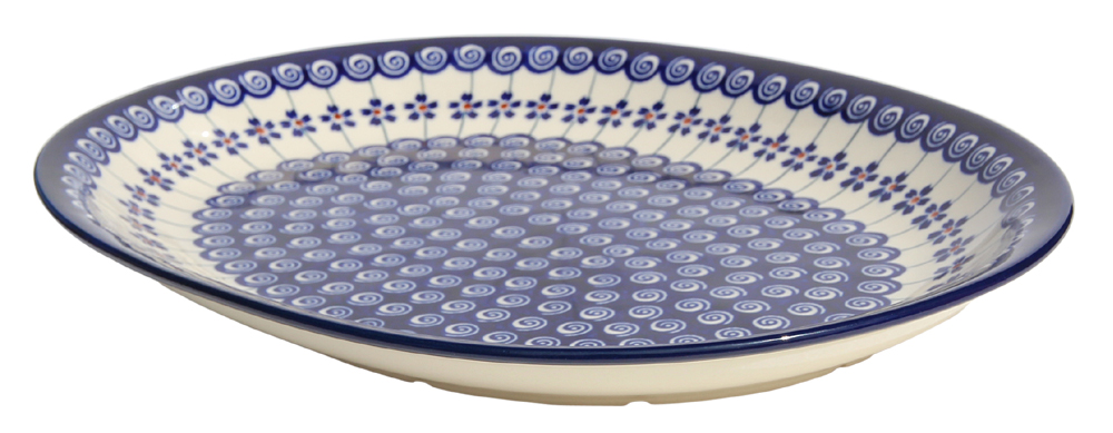 Polish Pottery Large Serving Platter, Classic Design 1085a