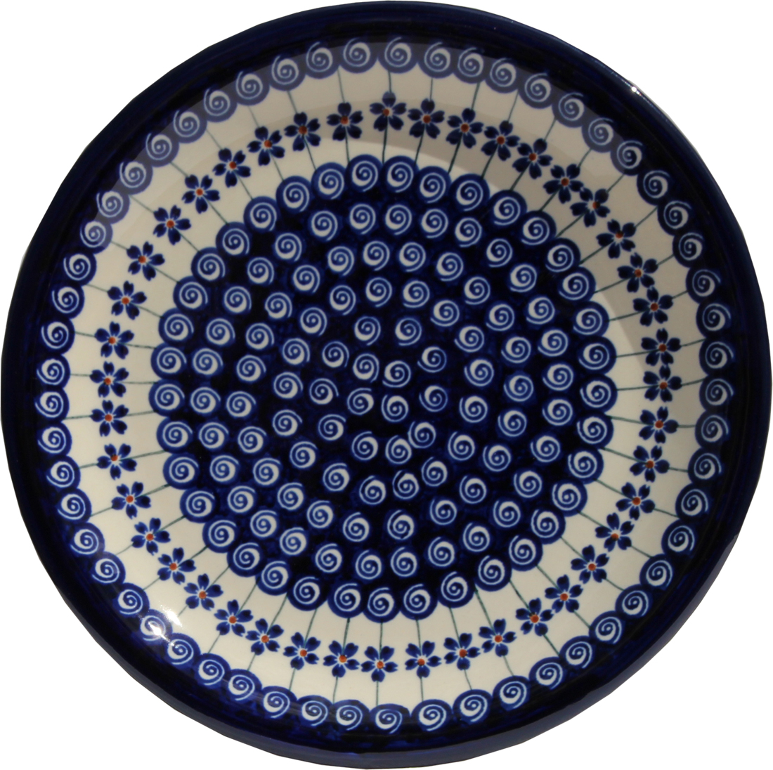 Polish Pottery Dinner Plate, Classic Design 1085a