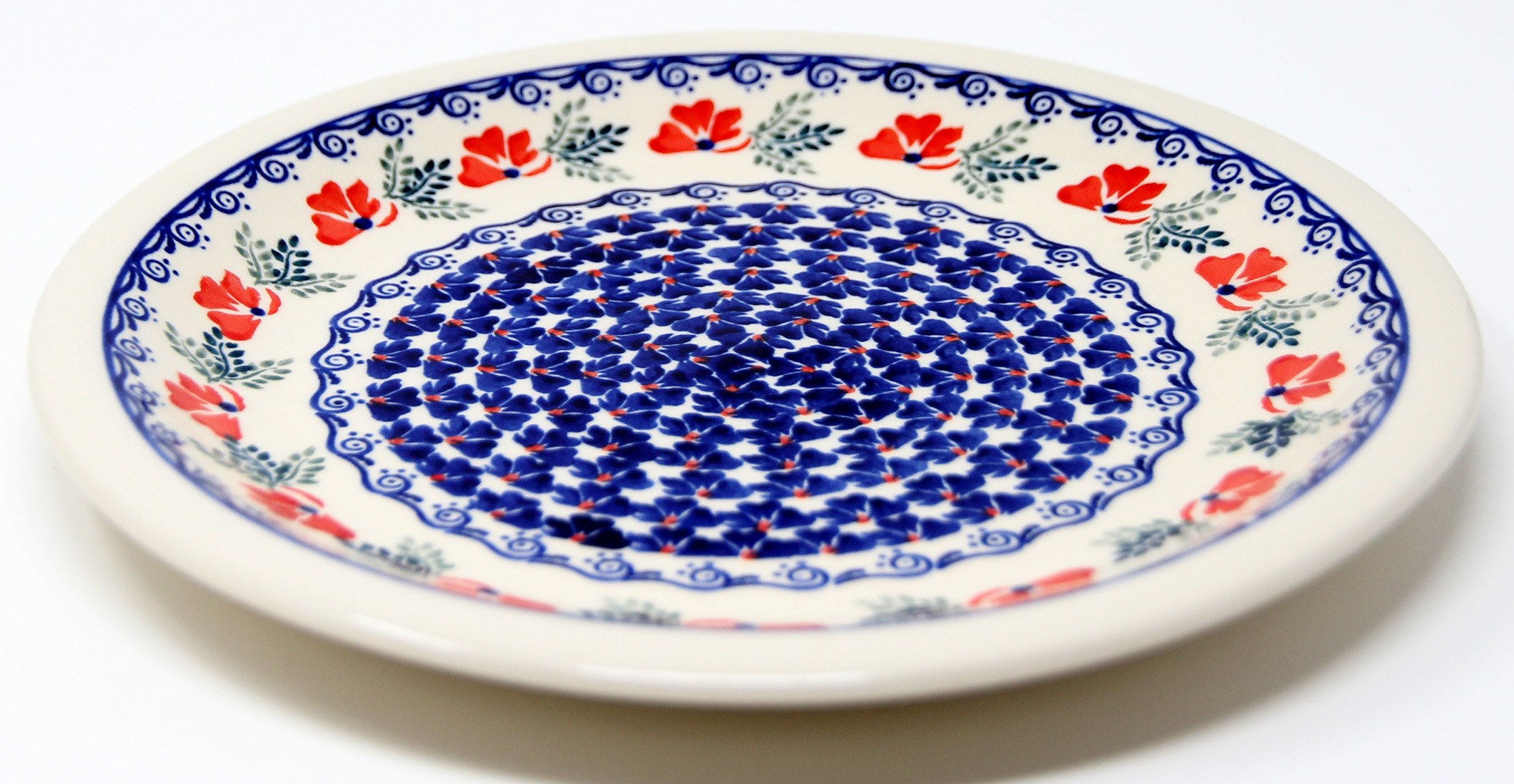 Polish Pottery Dinner Plate, Classic Design 1115