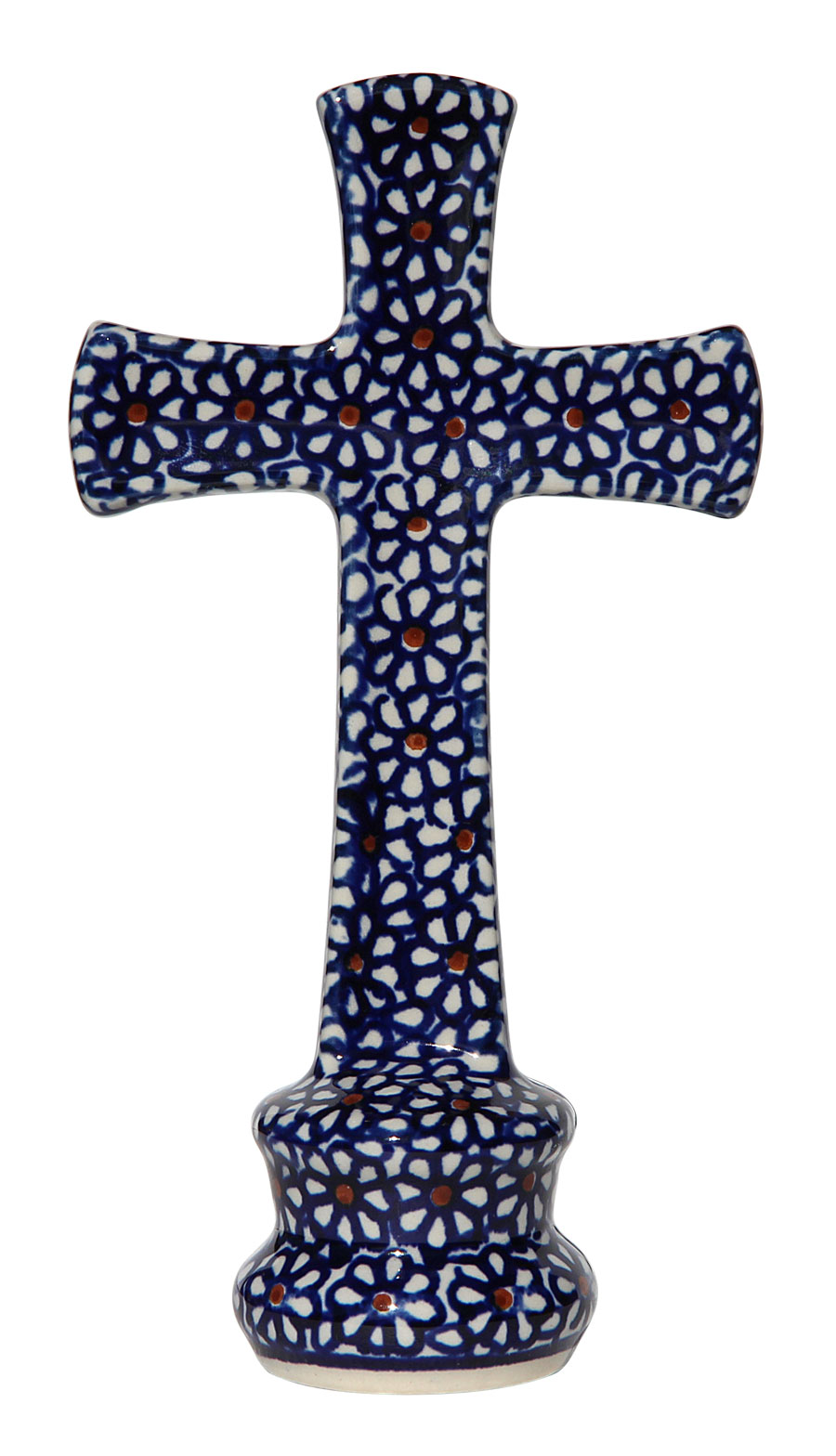 Standing Polish Pottery Cross