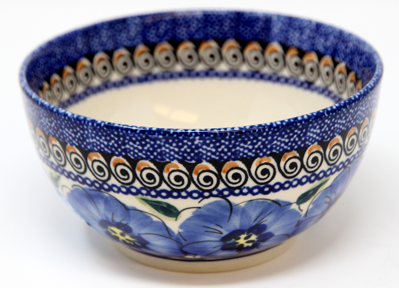Polish Pottery Ice Cream/Cereal  Bowl