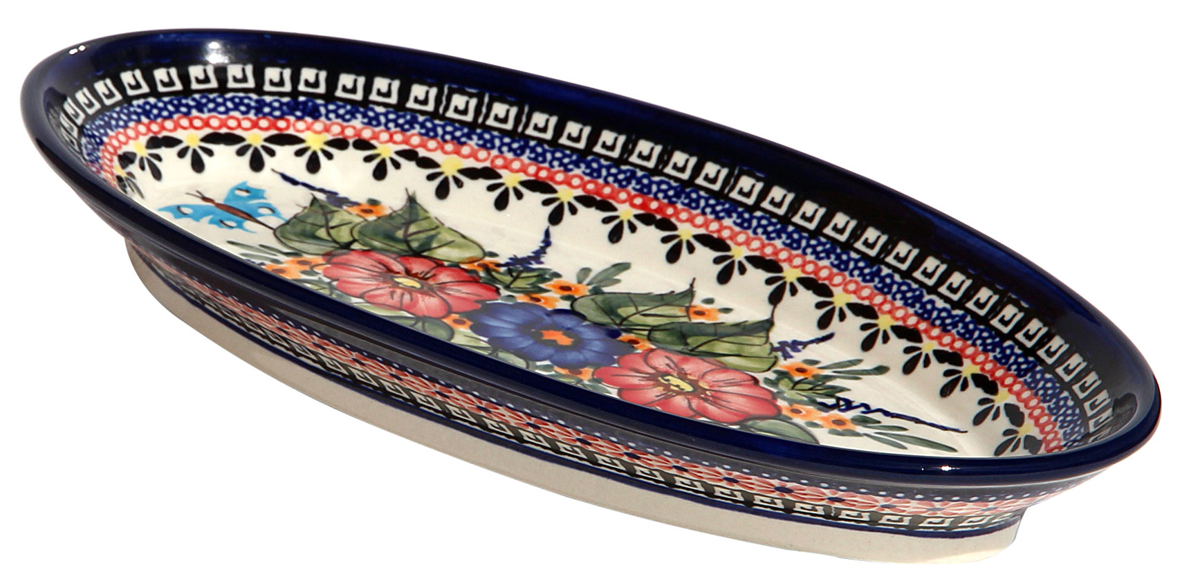 Polish Pottery Medium Oval Serving Dish