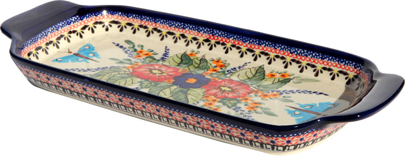Polish Pottery Bread Tray, Unikat Signature 149 Art