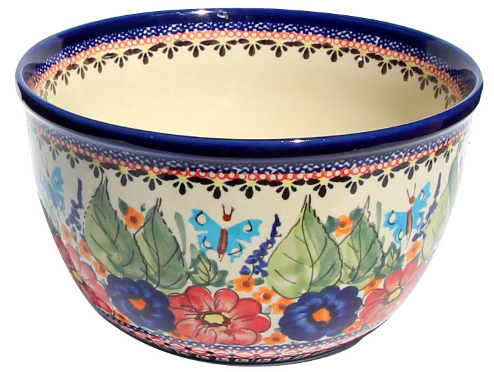 Polish Pottery Mixing Bowl 2 Qt.