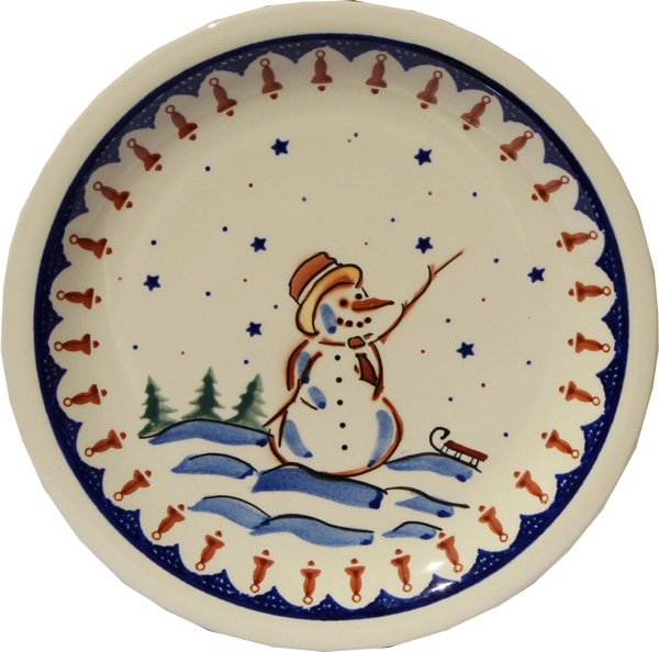 Polish Pottery Dinner Plate, Classic Design 178a