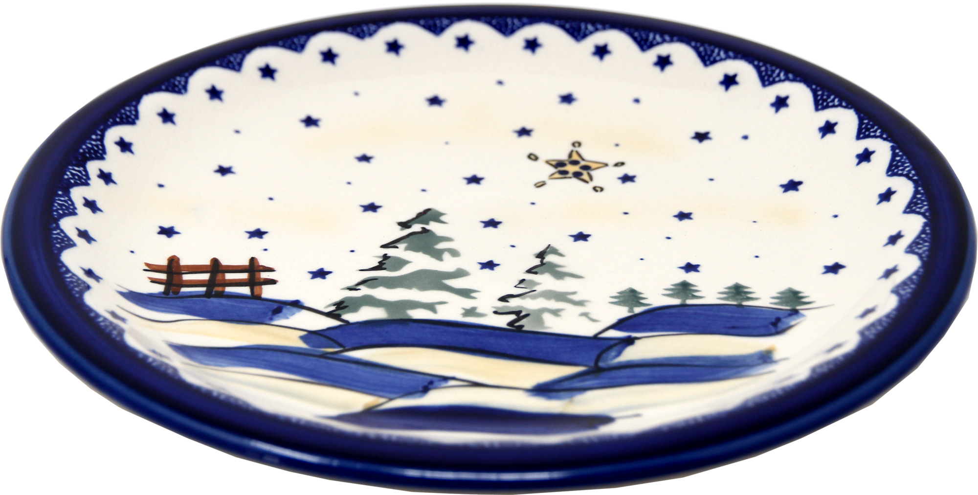 Polish Pottery Dinner Plate, Classic Design 182a