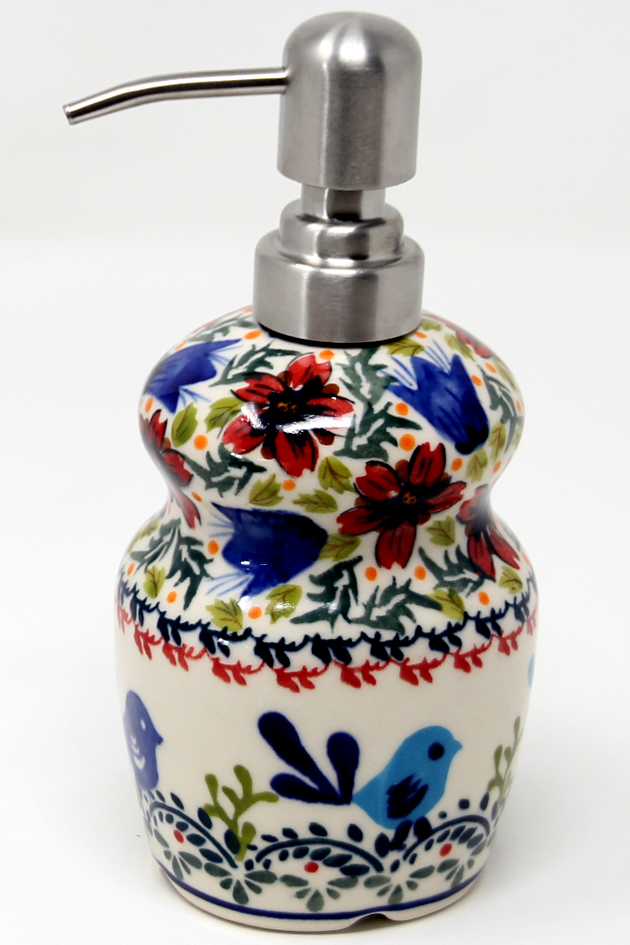 Soap Dispenser Polish Pottery from Zaklady painted by Marta Szewc