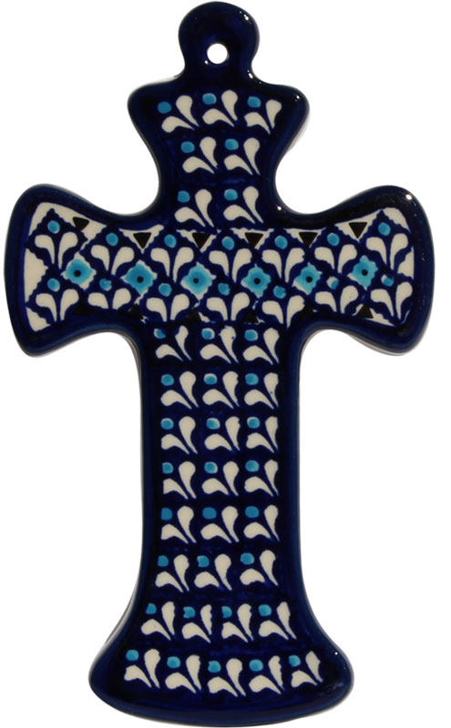 Polish Pottery Cross, Classic Design 217a