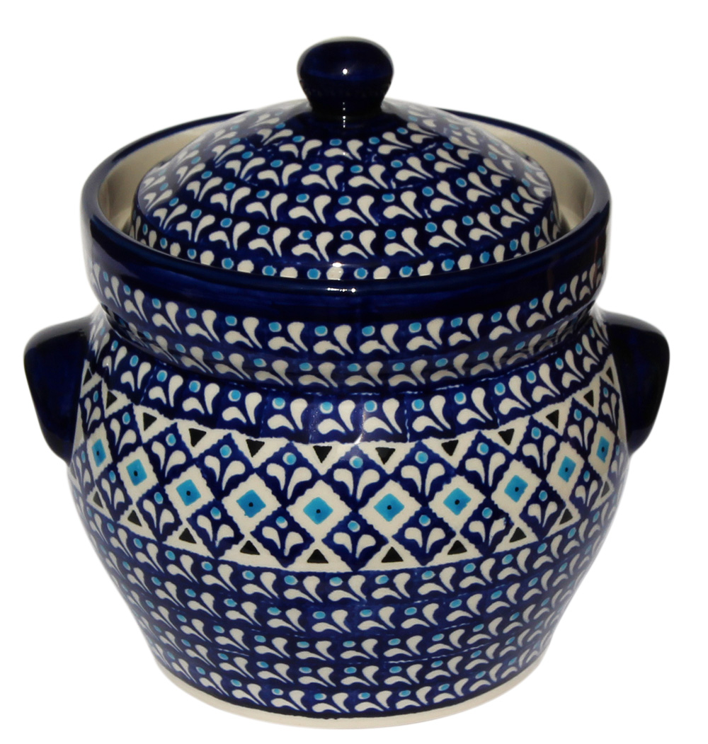 Polish Pottery Fermenting Crock Pot 7 Cups Clic Design 217a