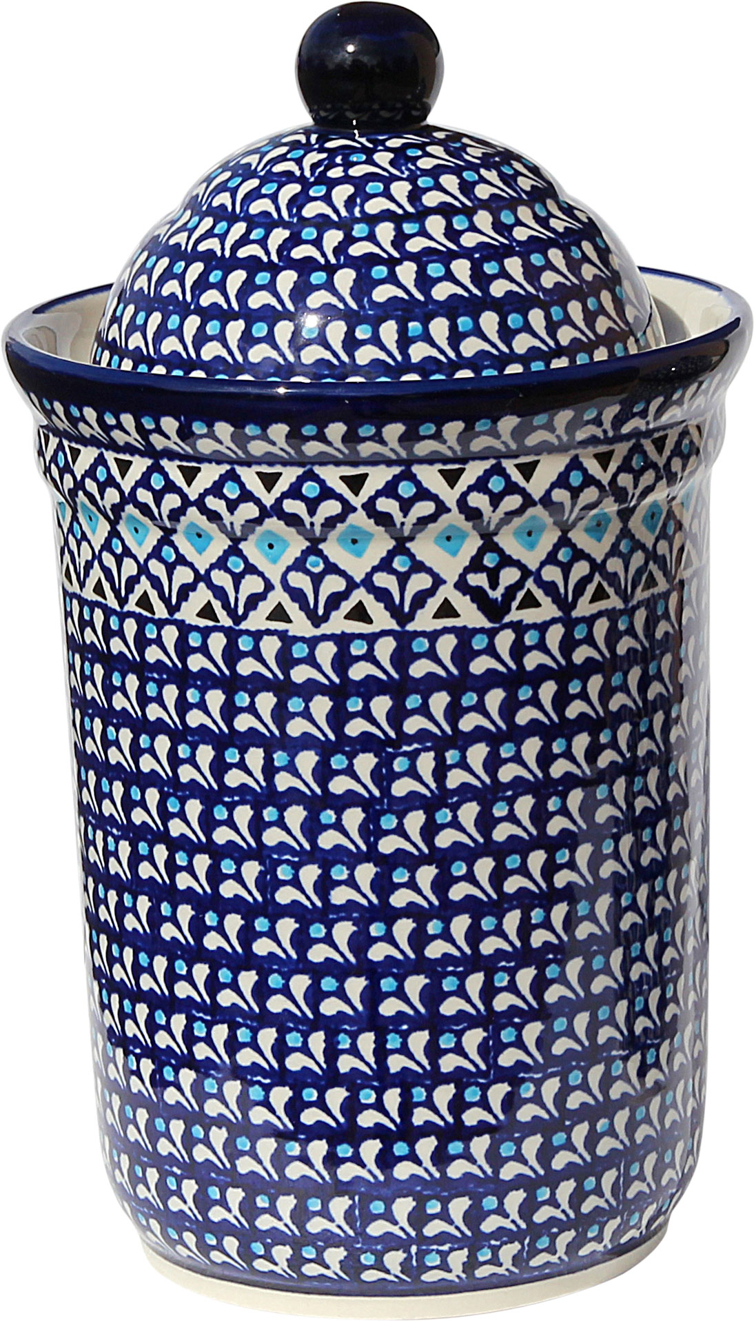 Polish Pottery Canister 10 Cups, Classic Design 217a