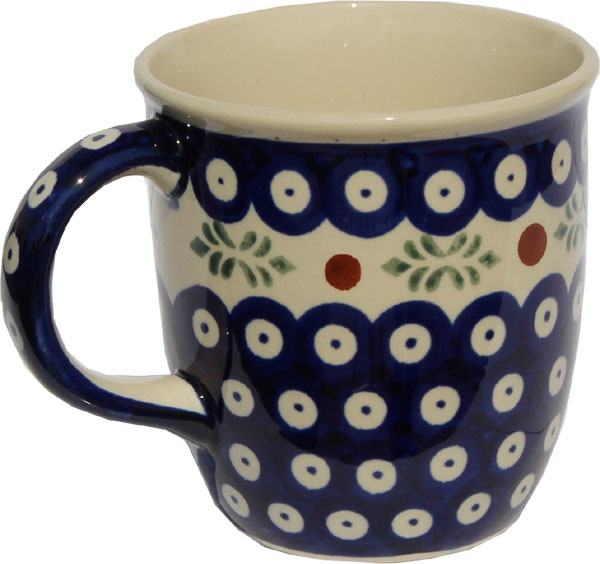 Polish Pottery Mug 12 Oz., Classic Design 242