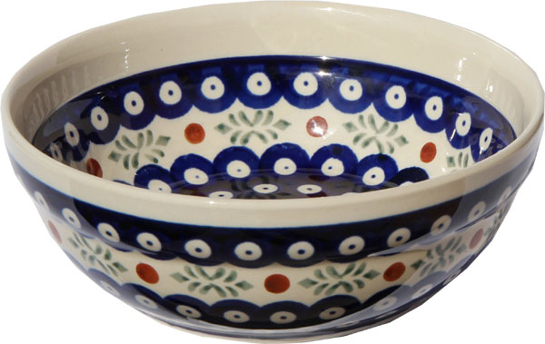Polish Pottery Cereal / Salad Bowl  Decoration Inside, Classic Design 242