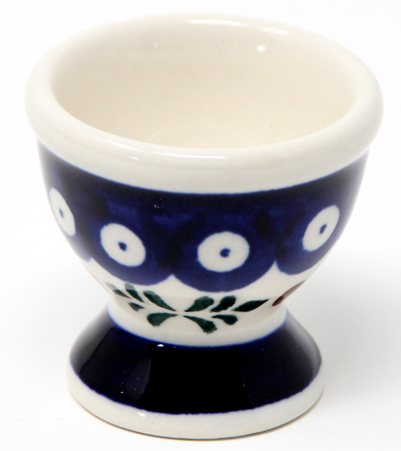 Egg Cup Holly Berries Polish Pottery Pattern