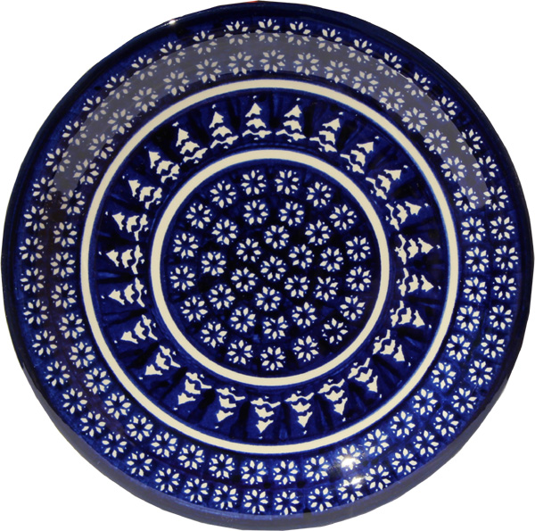 Polish Pottery Dinner Plate, Classic Design 243a
