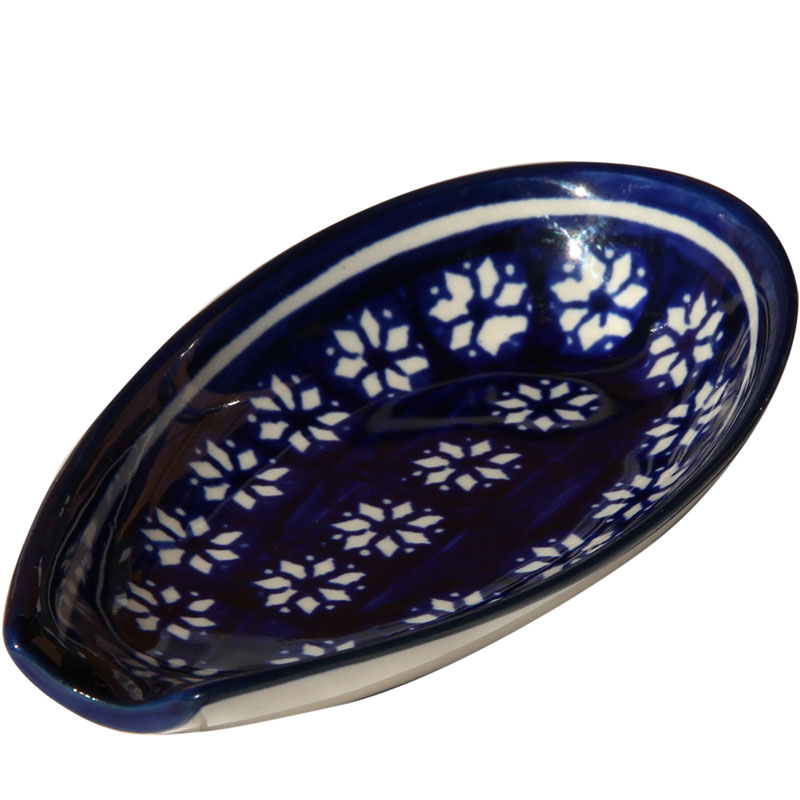 Polish Pottery Spoon Rest, Classic Design 243a