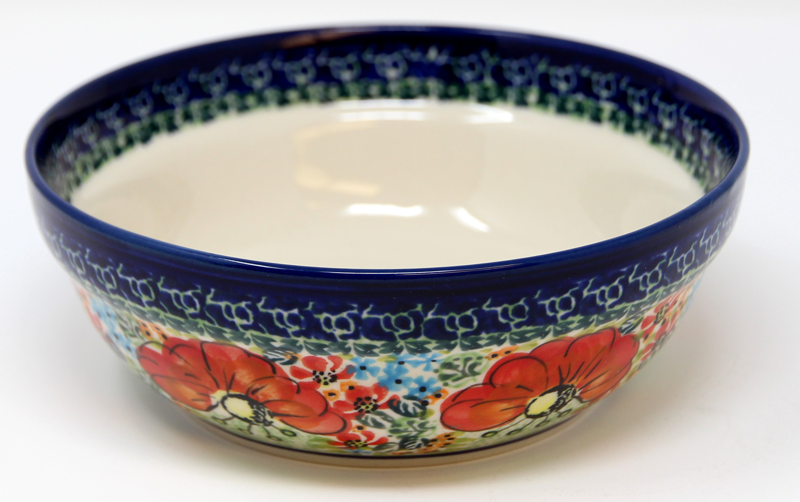 Polish Pottery Cereal / Salad Bowl, Unikat Signature Pattern 296 Art