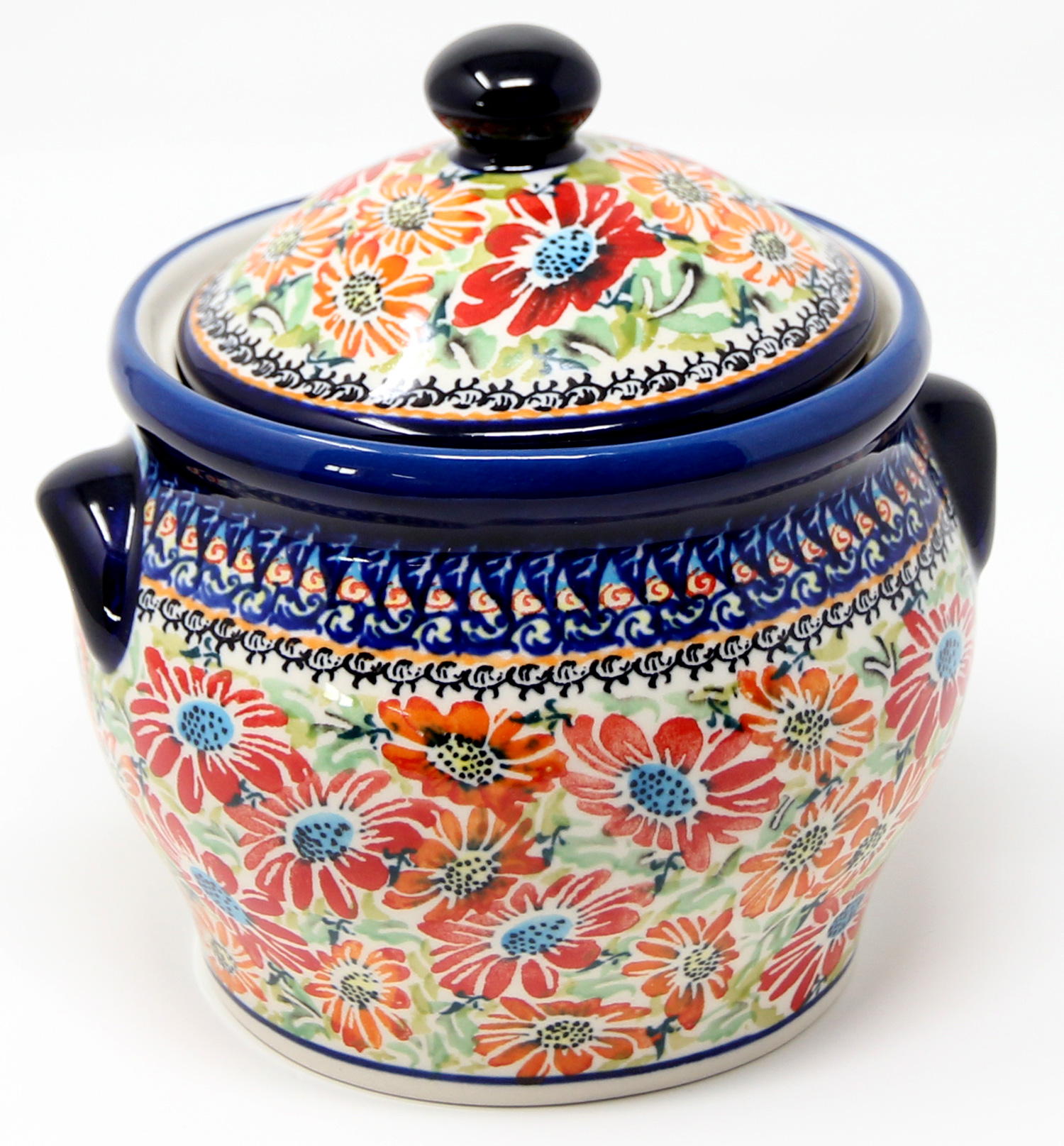 Polish Pottery Canister painted by Ula Bukowska