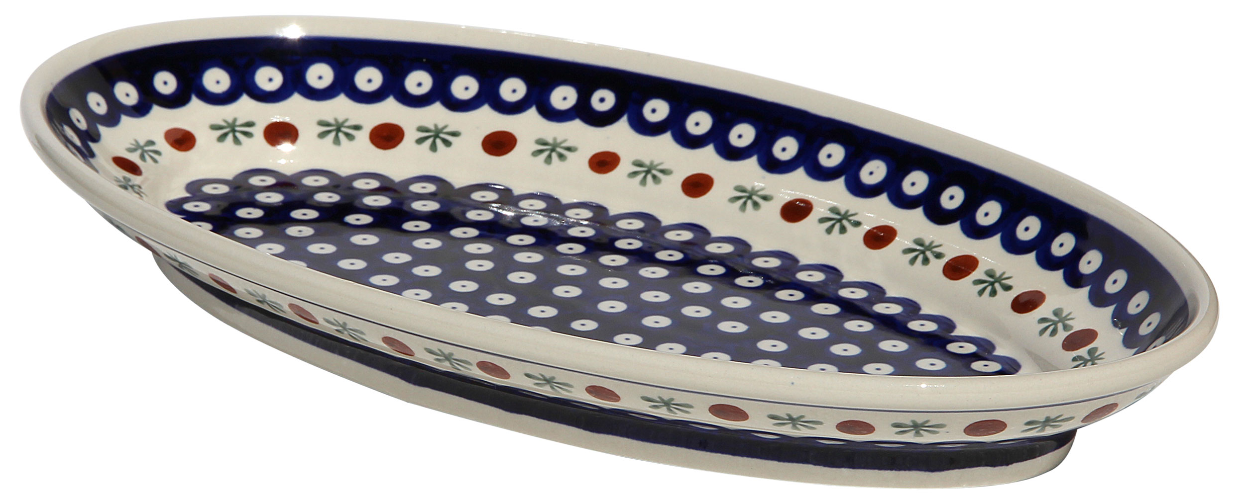 Polish Pottery Large Oval Serving Dish
