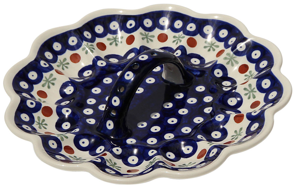 Polish Pottery Egg Plate