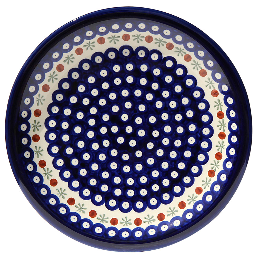 Polish Pottery Dinner Plate, Classic Design 41a