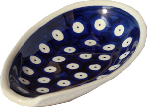 Polish Pottery Spoon Rest, Classic Design 42