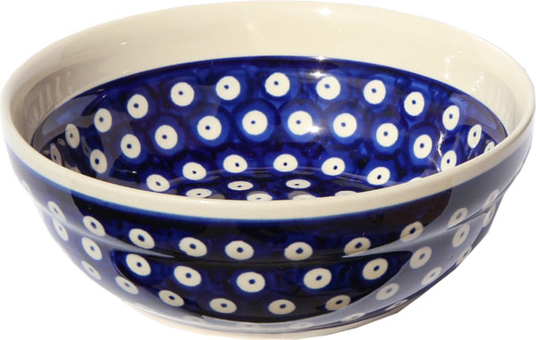 Polish Pottery Cereal / Salad Bowl  Decoration Inside, Classic Design 42