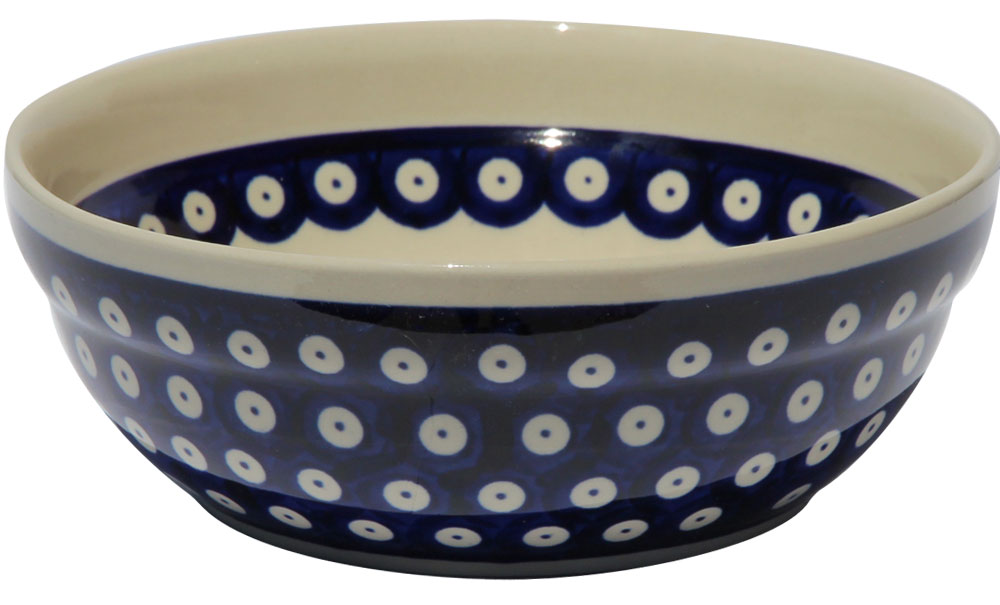 Polish Pottery Cereal / Salad Bowl, Classic Design 42