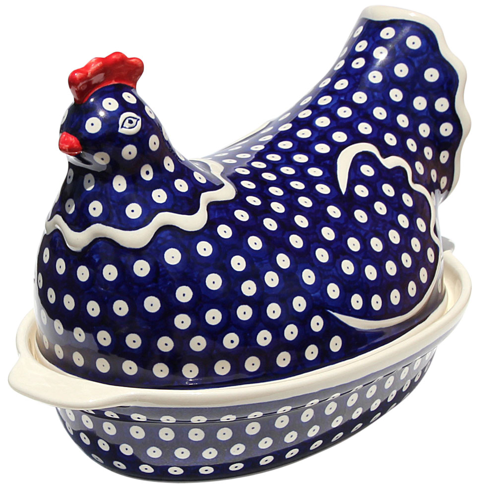 Polish Pottery Chicken Baker